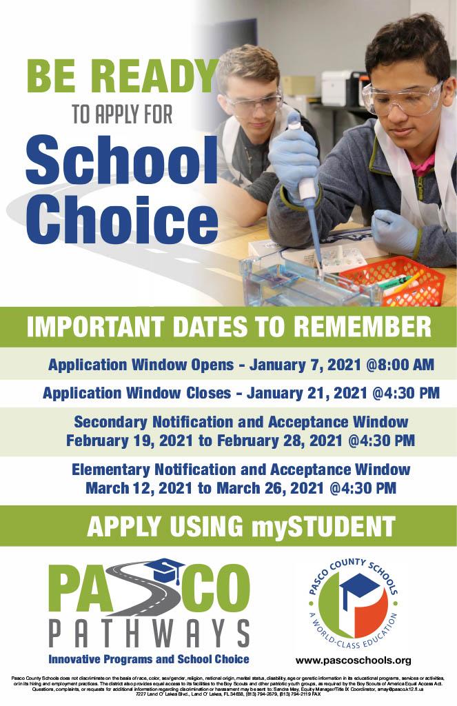 Pasco School Calendar 2021-22 Choice Program Window Now Open   LAND O' LAKES HIGH SCHOOL
