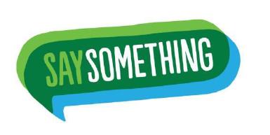 National Say Something Week