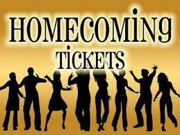 Homecoming tickets can be purchased this week during lunches.