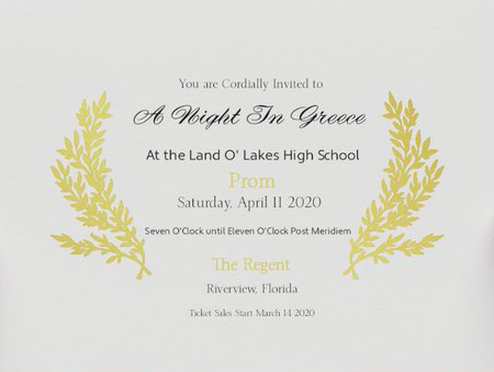 Prom 2020 Tickets – Updated March 17