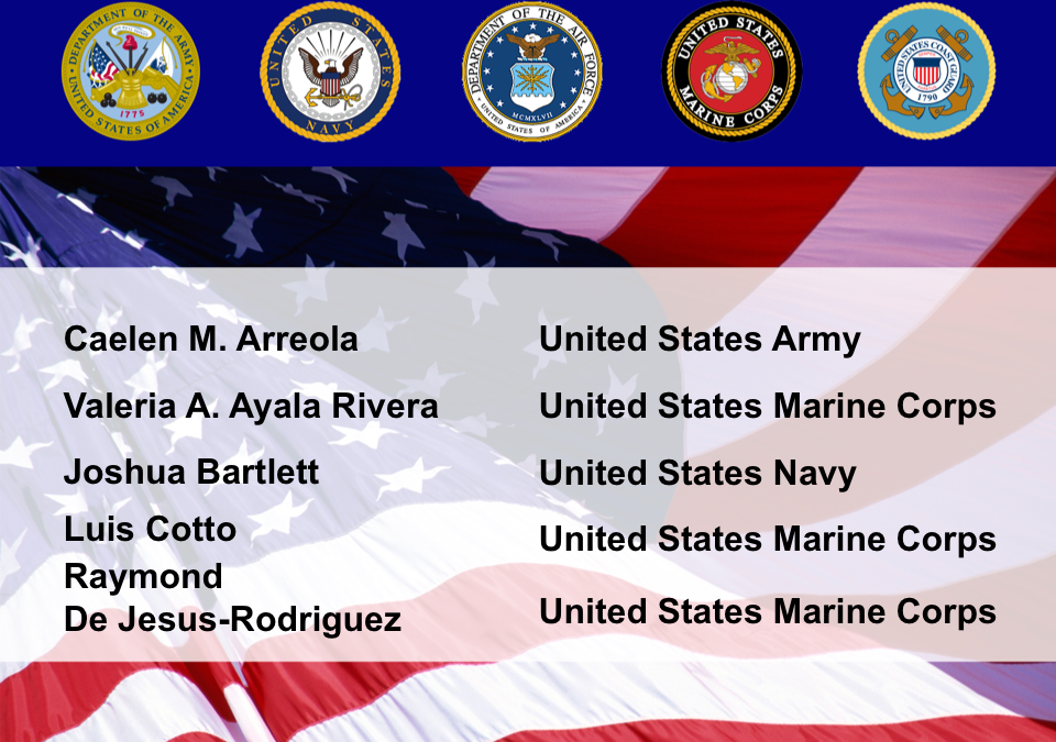 Congratulation to our students who joined the military.