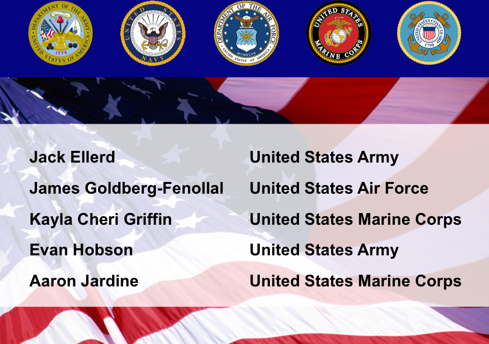 Congratulations to our students who joined the military!
