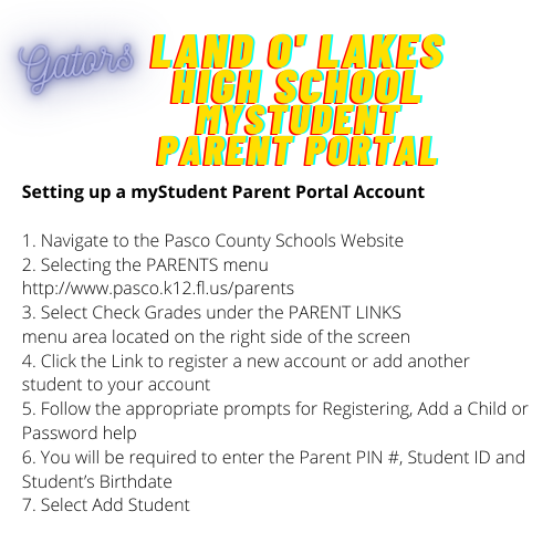 Setting Up a Parent myStudent Account