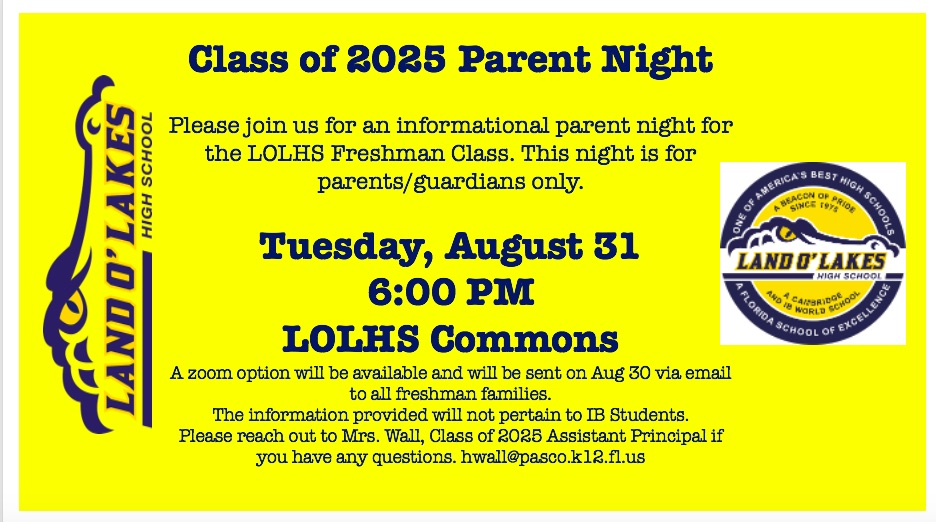 Freshmen Parent Night